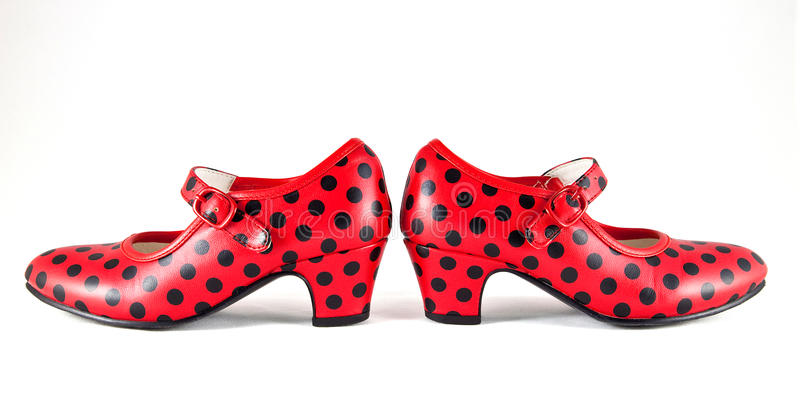 Flamenco παπούτσια χορού στοκ φωτογραφίες