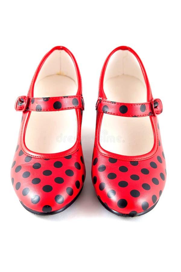 Flamenco παπούτσια χορού στοκ φωτογραφία