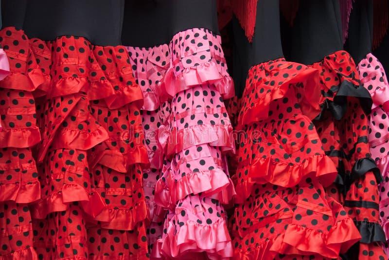 flamenco φορεμάτων στοκ εικόνα με δικαίωμα ελεύθερης χρήσης