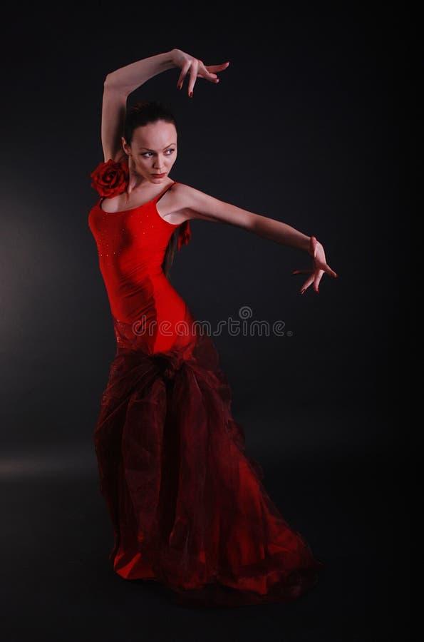 flamenco χορευτών θέτει τη γυναί&kapp στοκ εικόνα