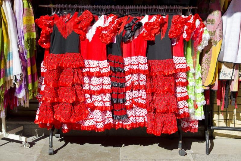 flamenco χορευτών κοστουμιών τσιγγάνος στοκ εικόνες