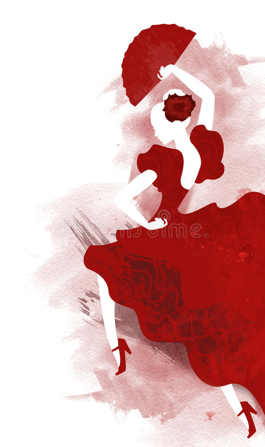 Flamenco vector illustratie