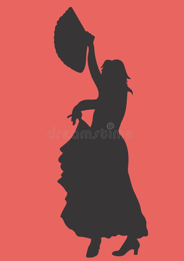 Flamenco illustration stock