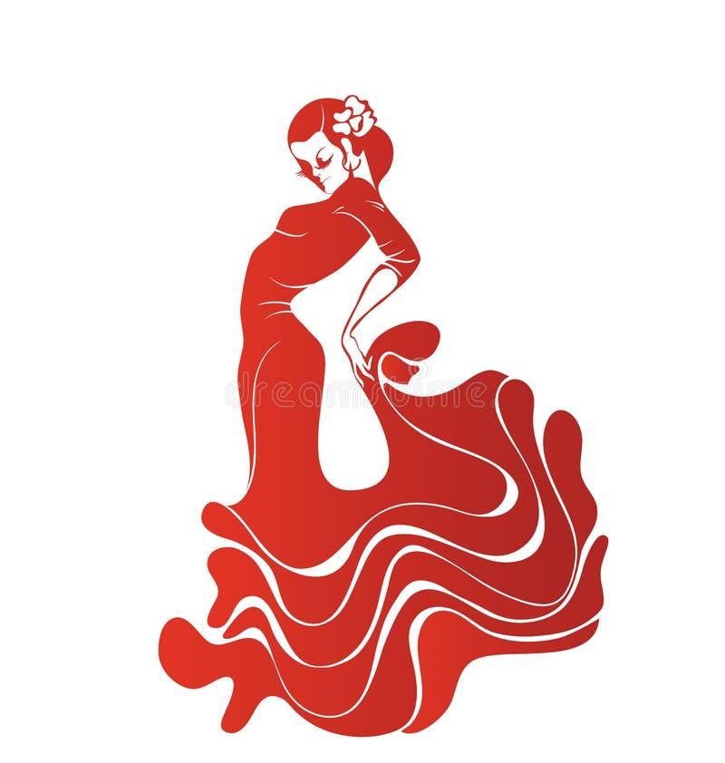 Flamenco apasionado joven del baile de la mujer foto de archivo libre de regalías
