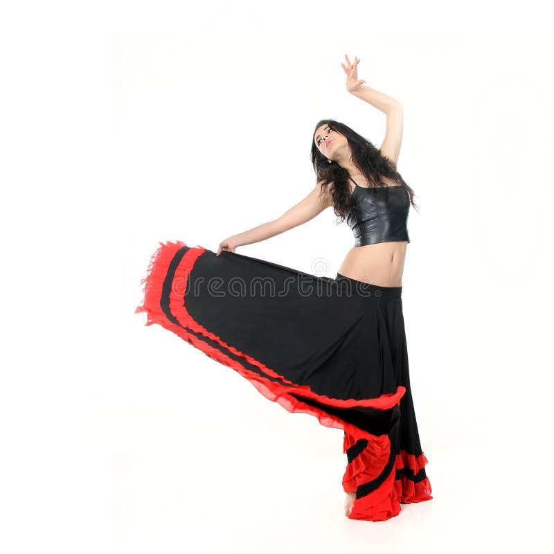 Flamenco atrativo novo da dança da mulher fotografia de stock royalty free