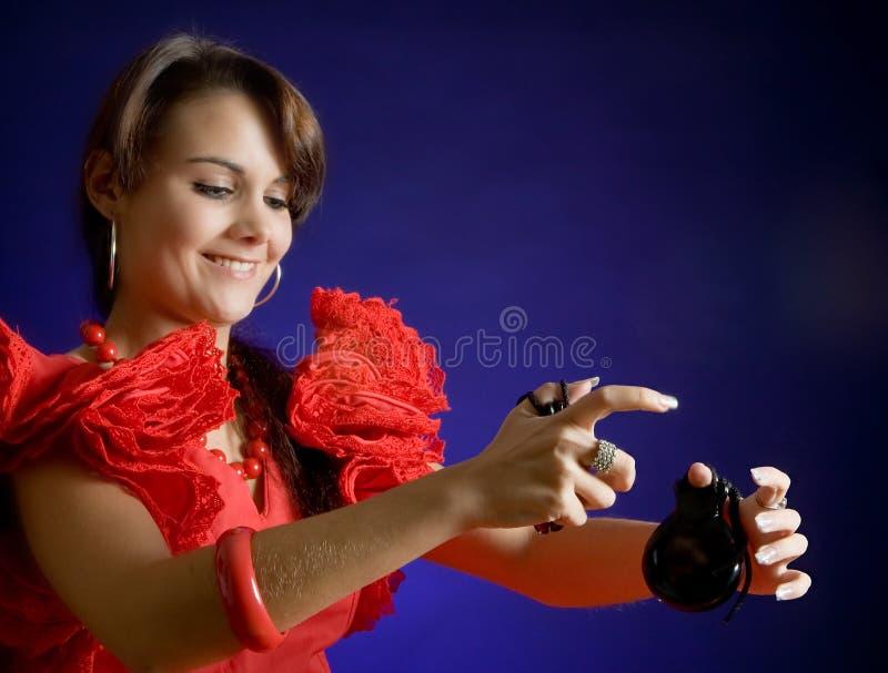 Flamenco com um sorriso imagens de stock royalty free