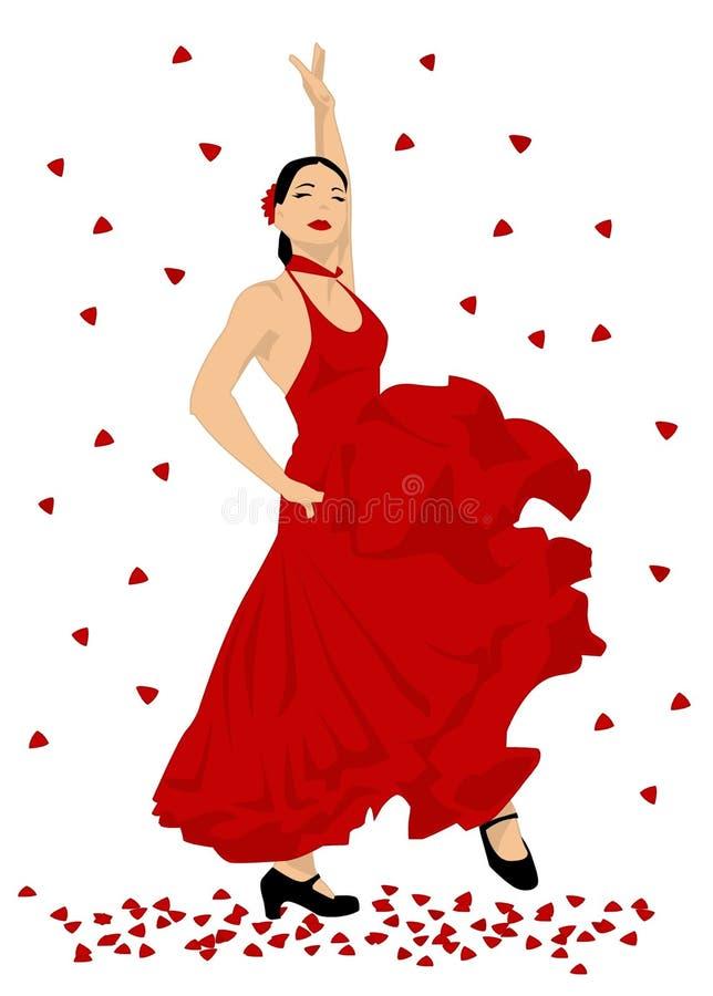 flamenco dancer stock vector illustration of hair