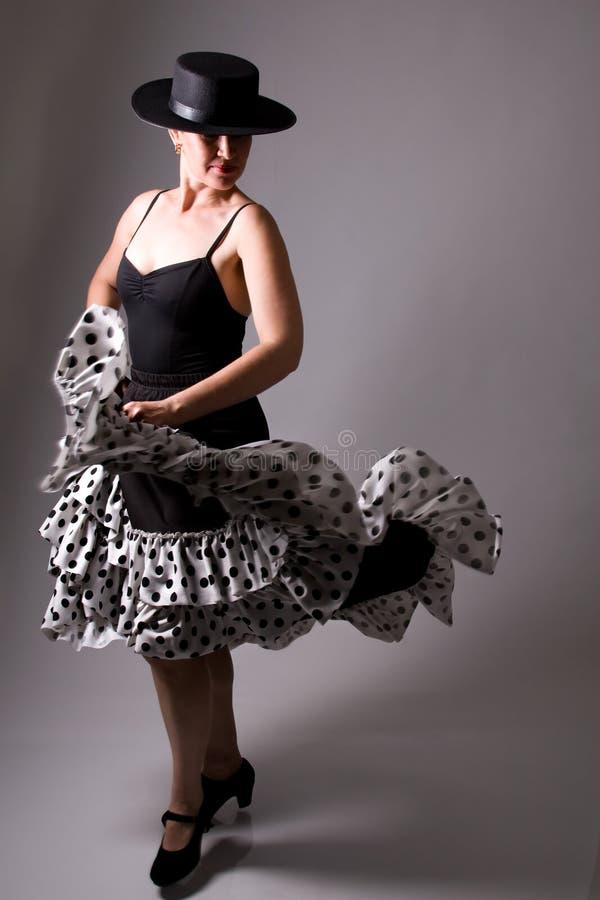 Flamenco Dancer. A Flamenco Dancer In A Black Dress royalty free stock photo