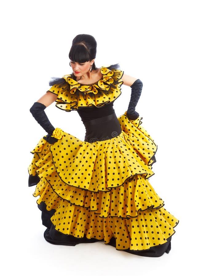 Flamenco dancer. Beautiful flamenco dancer. Dancing contest stock photos