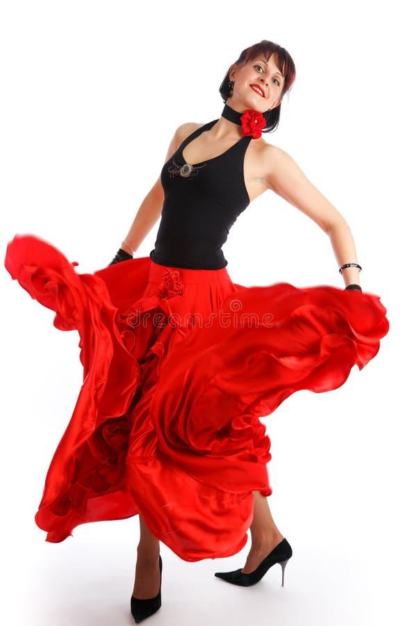 Flamenco dancer. Beautiful flamenco dancer. Dancing contest royalty free stock images