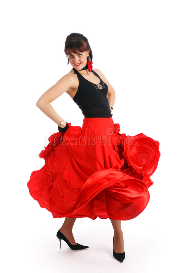 Flamenco dancer. Beautiful flamenco dancer. Dancing contest stock images