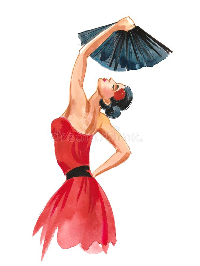 Flamenco dancer stock illustration