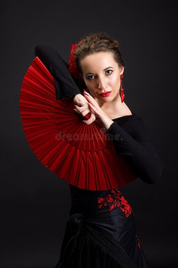 Flamenco dancer. Portrait of flamenco dancer woman royalty free stock photo