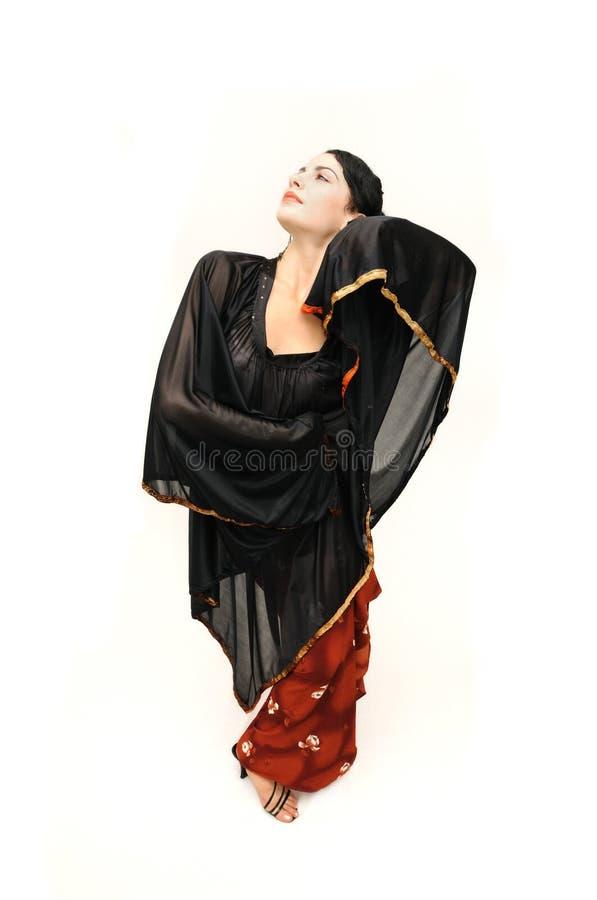 Flamenco dancer woman stock photography