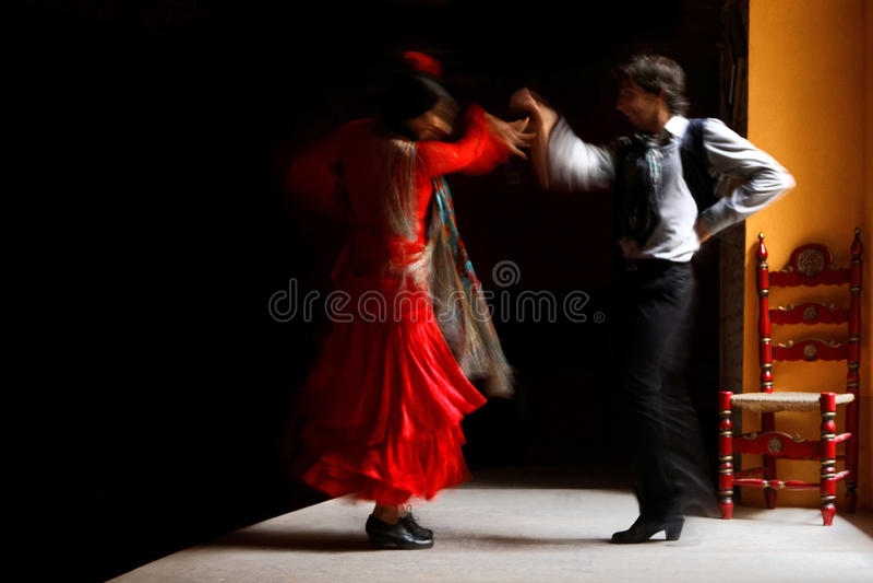 Flamenco dancers stock photo