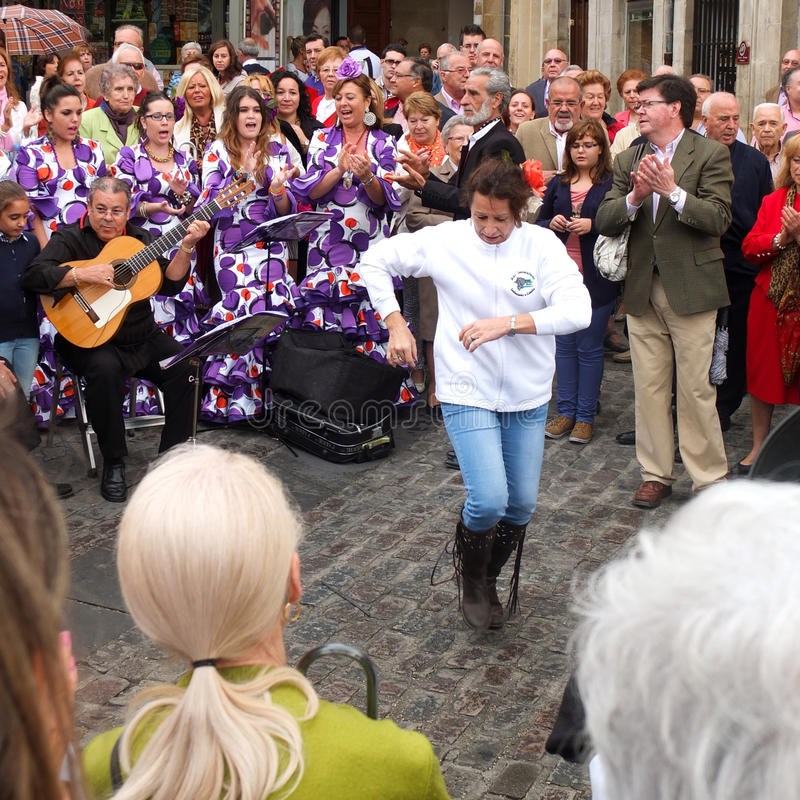 Flamenco de danse de femme. photographie stock