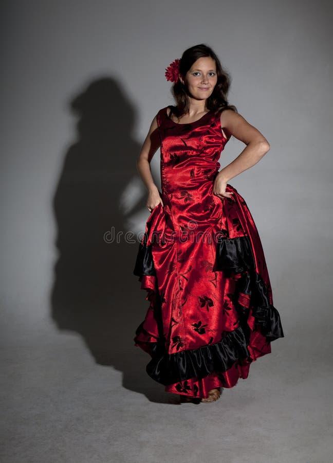 Flamenco del baile de la mujer joven fotos de archivo libres de regalías