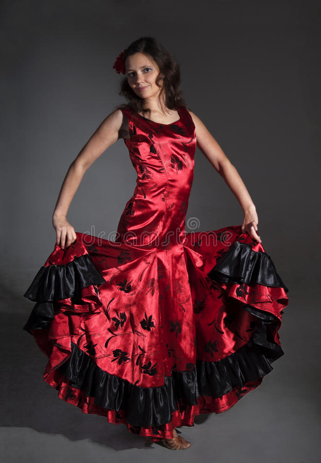 Flamenco del baile de la mujer joven imagen de archivo