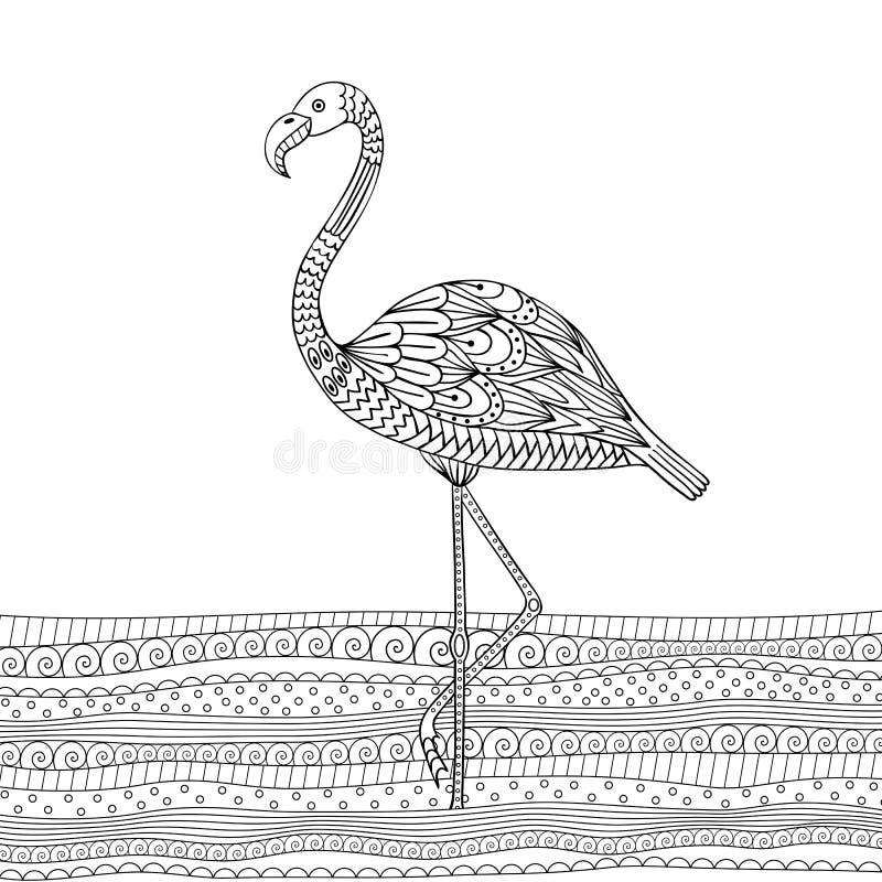 Flamenco dibujado mano ilustración del vector