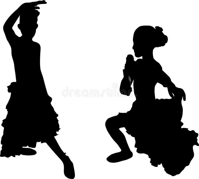 Flamenco espanhol ilustração do vetor
