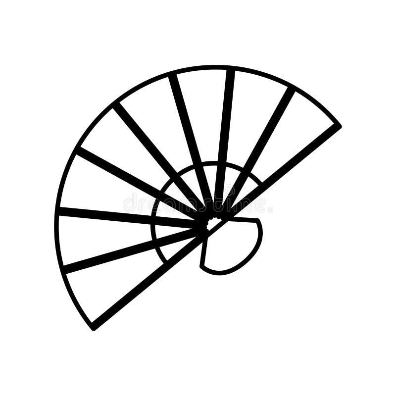 Flamenco femenino accesory de la fan stock de ilustración