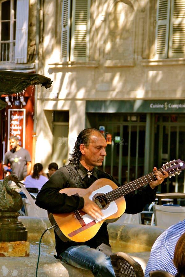 Flamenco Guitar Player, Avignon, France Editorial Image