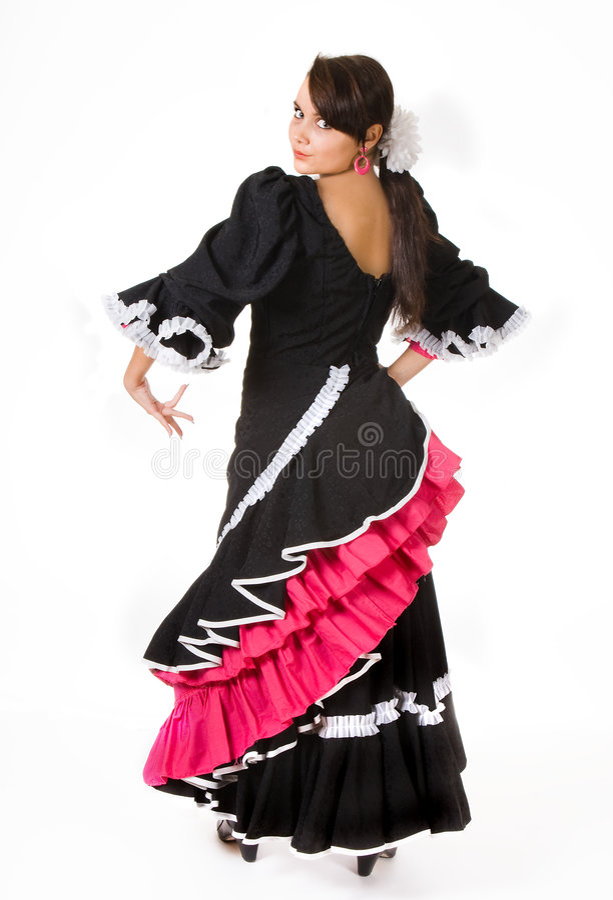 Flamenco pose royalty free stock photo