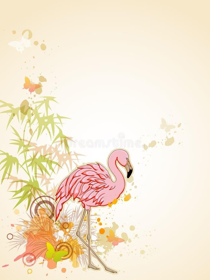 Flamenco rosado ilustración del vector