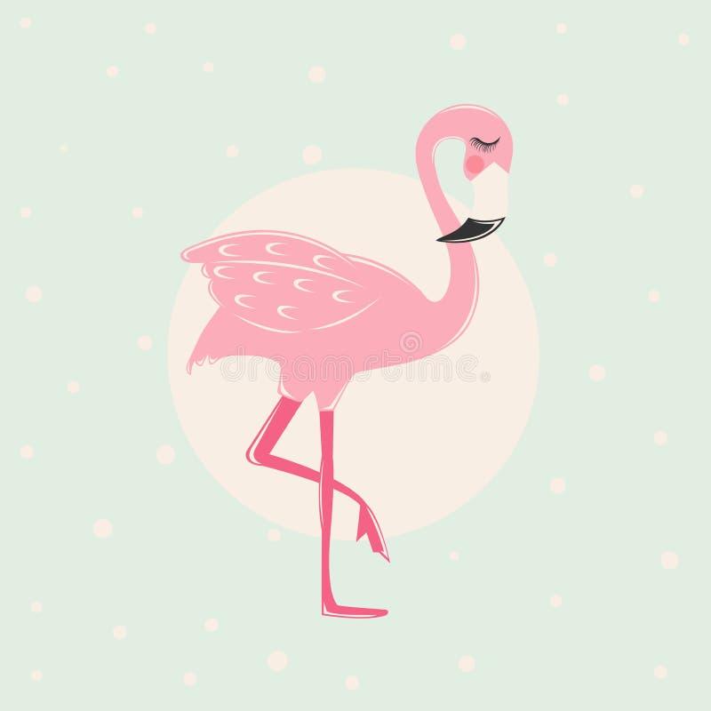 Flamenco rosado lindo stock de ilustración