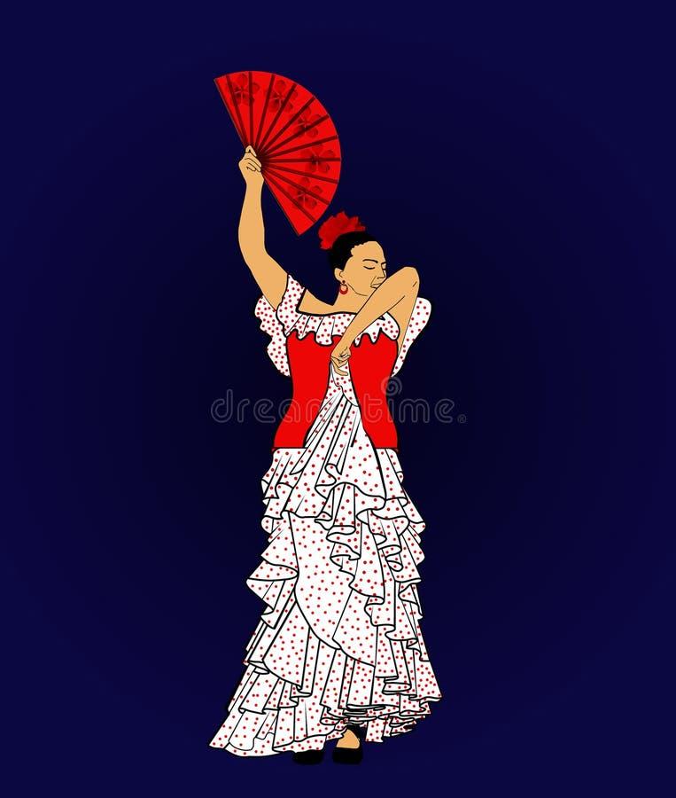 Flamenco-Spanischtanz stockfoto