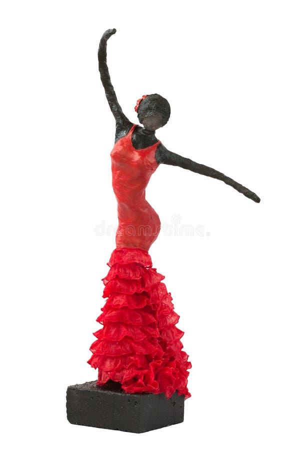 Flamenco tancerza statua obraz royalty free