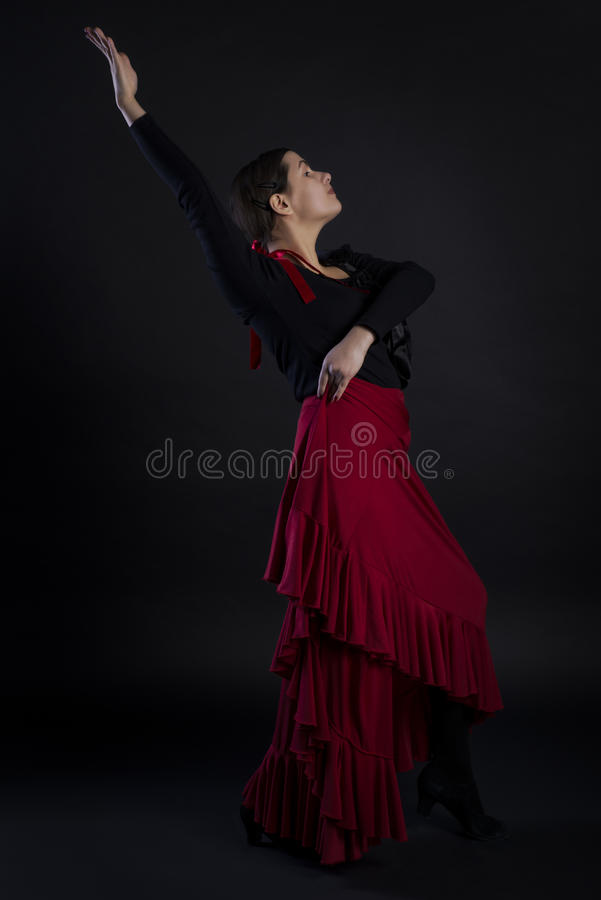Flamenco taniec obraz royalty free