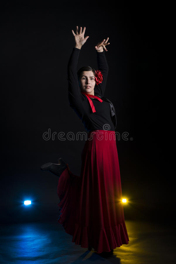 Flamenco taniec obrazy royalty free