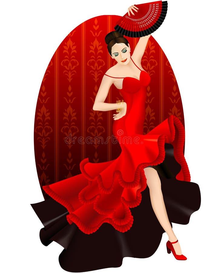 Flamenco triguenho da dança ilustração do vetor