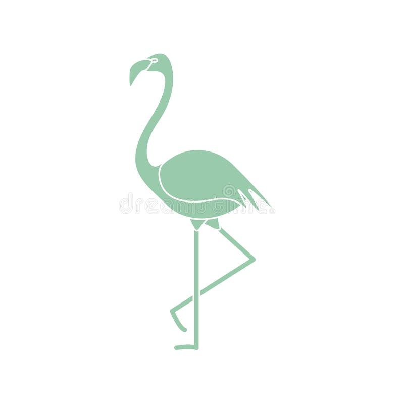Flamenco tropical exótico del pájaro libre illustration