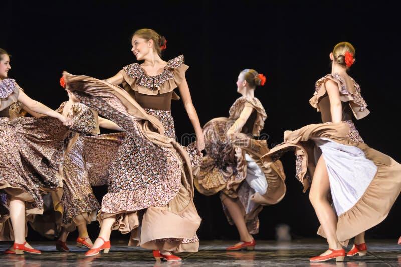 Flamencodans royalty-vrije stock fotografie