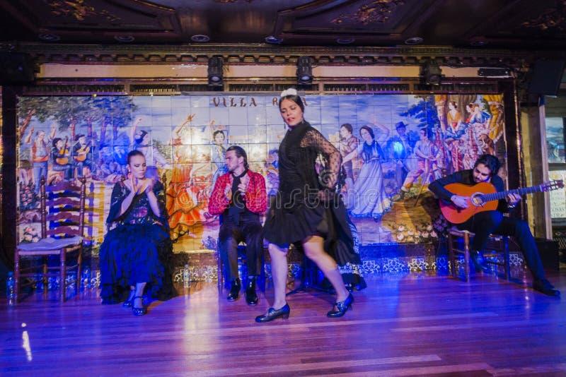 Flamencodansarekapacitet arkivfoto