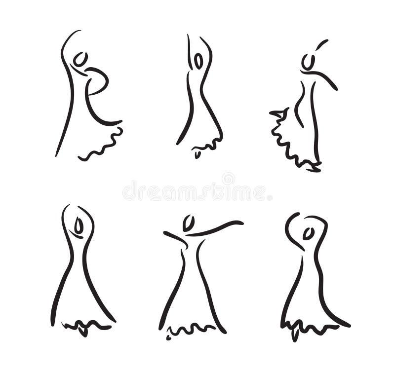 Flamencodanser. stock illustratie