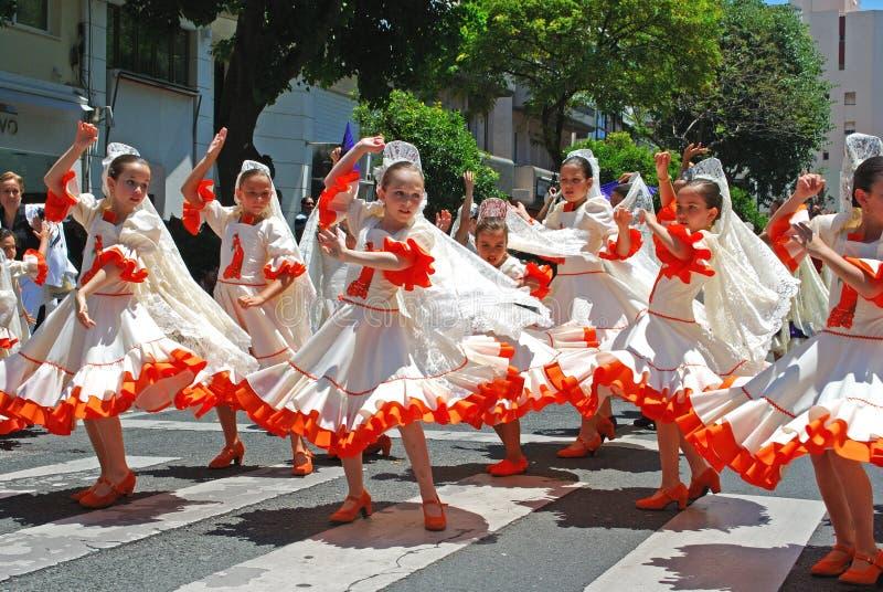 Flamencodansers, Marbella, Spanje. royalty-vrije stock fotografie