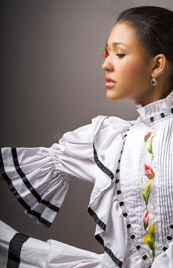 Flamencofrau stockfoto
