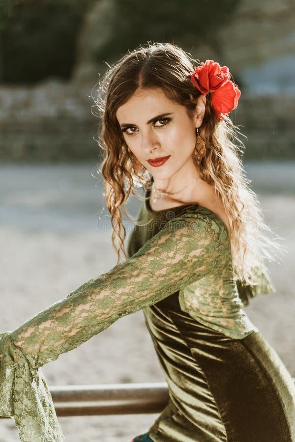 Flamencomeisjes in de boerderij royalty-vrije stock fotografie
