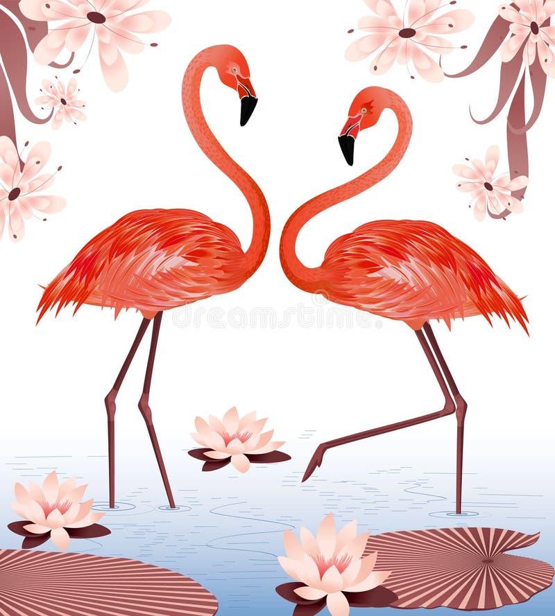 Flamencos stock de ilustración