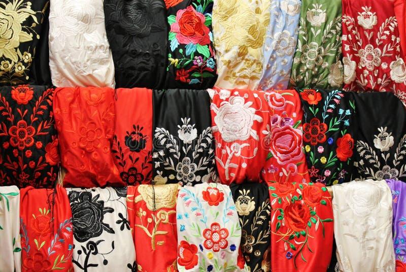Flamencoschal stockbilder