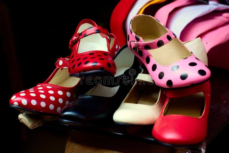 Flamencoschoenen stock afbeeldingen