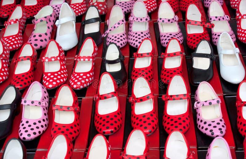 Flamencoschuhe lizenzfreie stockfotos