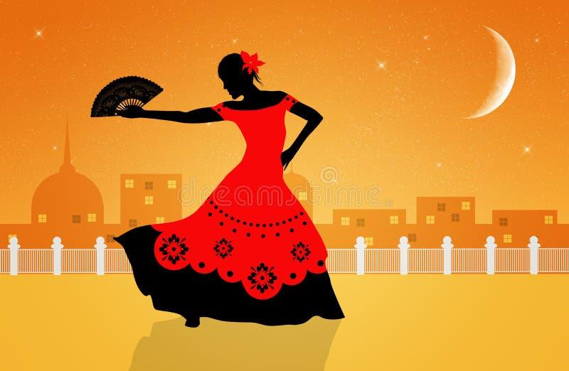 Flamencotänzer lizenzfreie abbildung