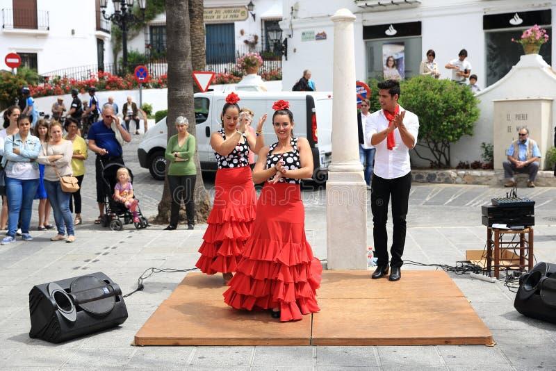 Flamencotänzer in der Stadt von Mijas, Màlaga, Spanien stockfoto