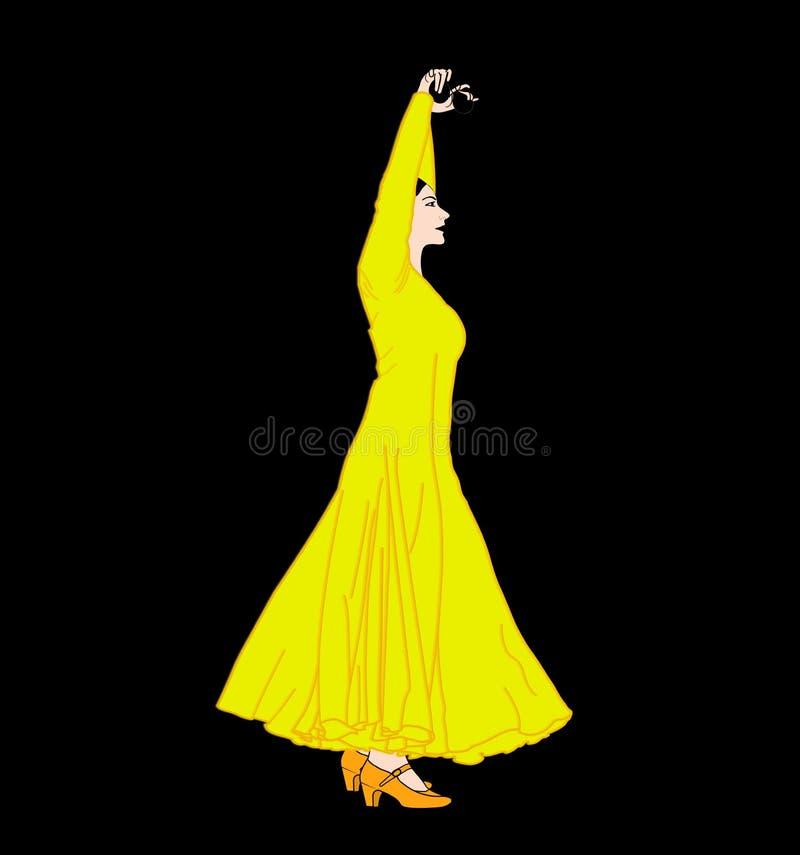 Flamencotanz, Frau mit Kastagnetten lizenzfreie stockfotos