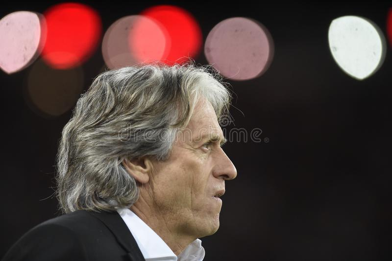 Flamengo coach Jorge Jesus royalty free stock photos