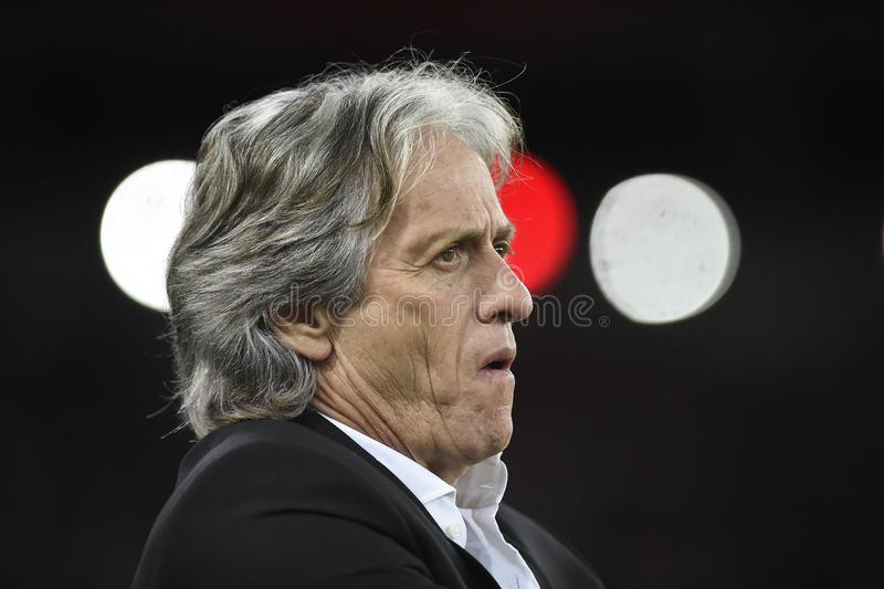 Flamengo coach Jorge Jesus royalty free stock photography